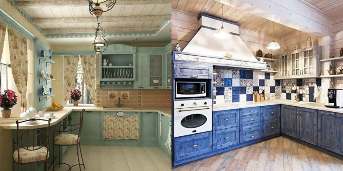 Кухня в стиле Кантри: цвет в интерьере