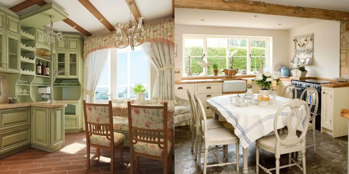 Кухня в стиле Кантри: свет в интерьере