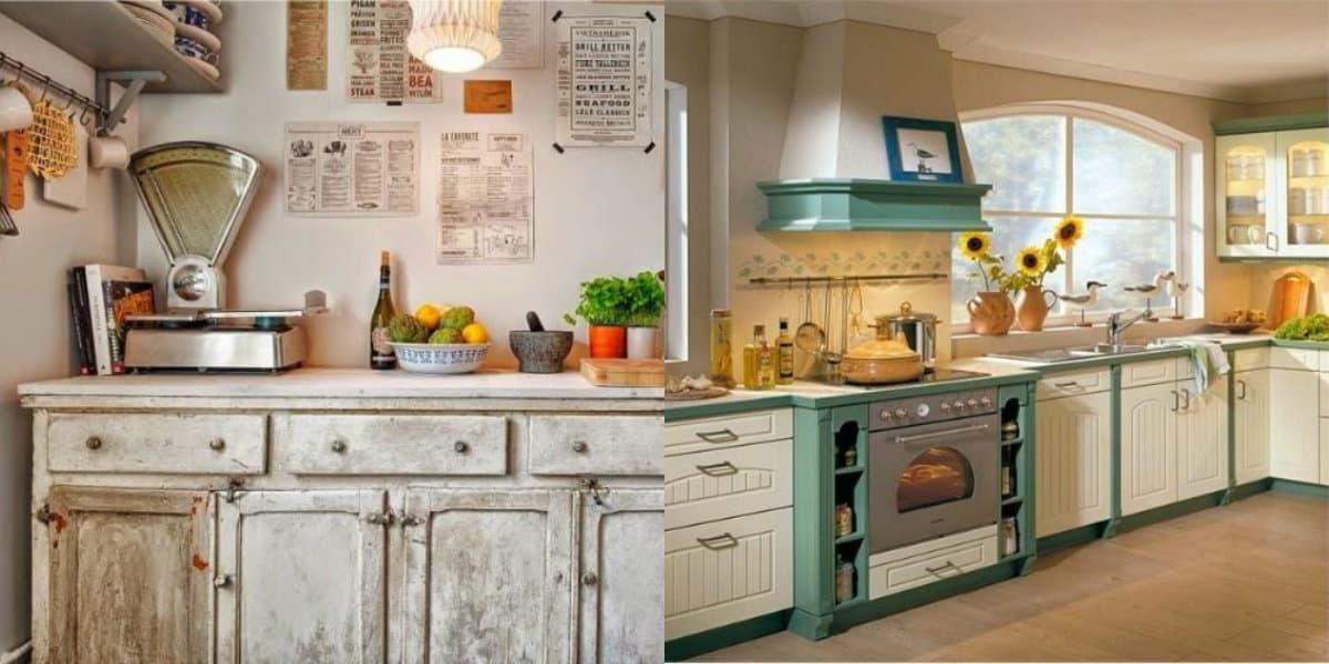 Кухня в стиле Кантри: винтаж