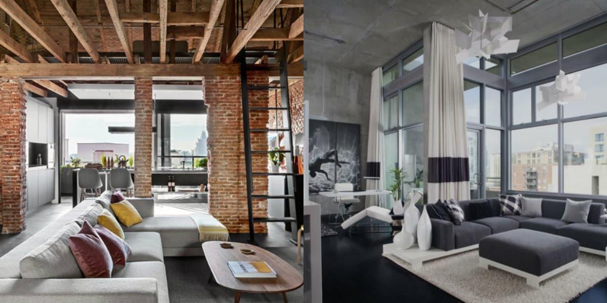 Стиль Лофт в интерьере : элегантный дизайн