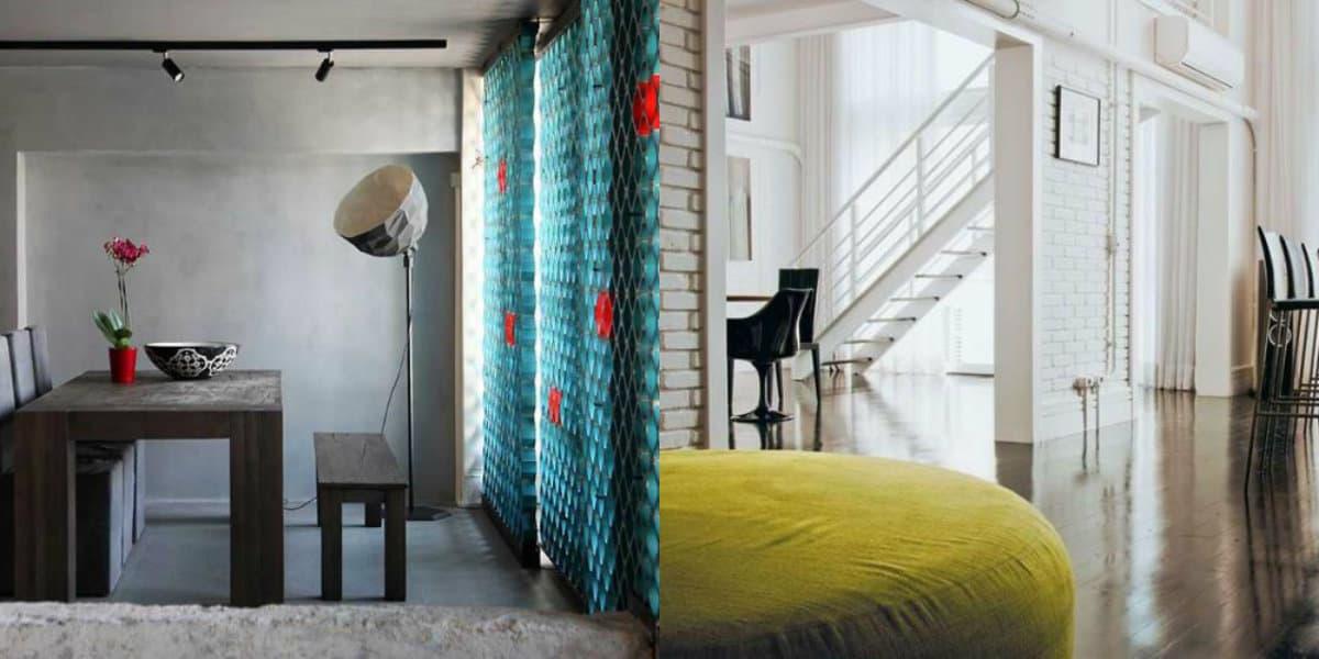 Стиль Лофт в интерьере : двухуровневые квартиры