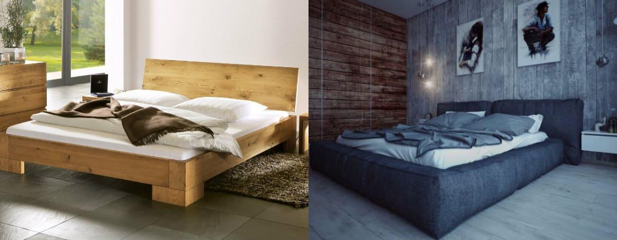 Стиль Лофт в интерьере : кровати