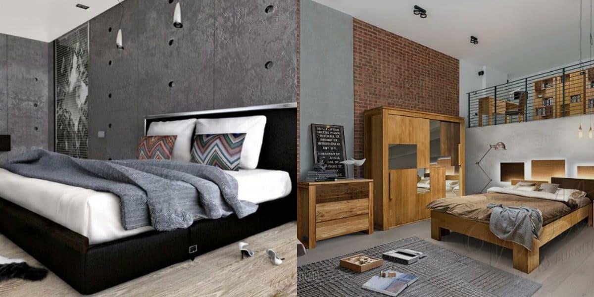 Стиль Лофт в интерьере : спальни и студии