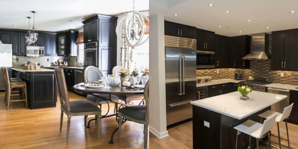 Интерьер черных кухонь: классические решения
