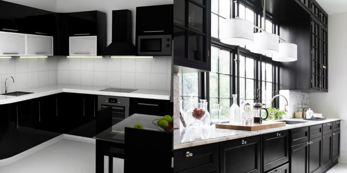 Интерьер черных кухонь: минимализм в интерьере