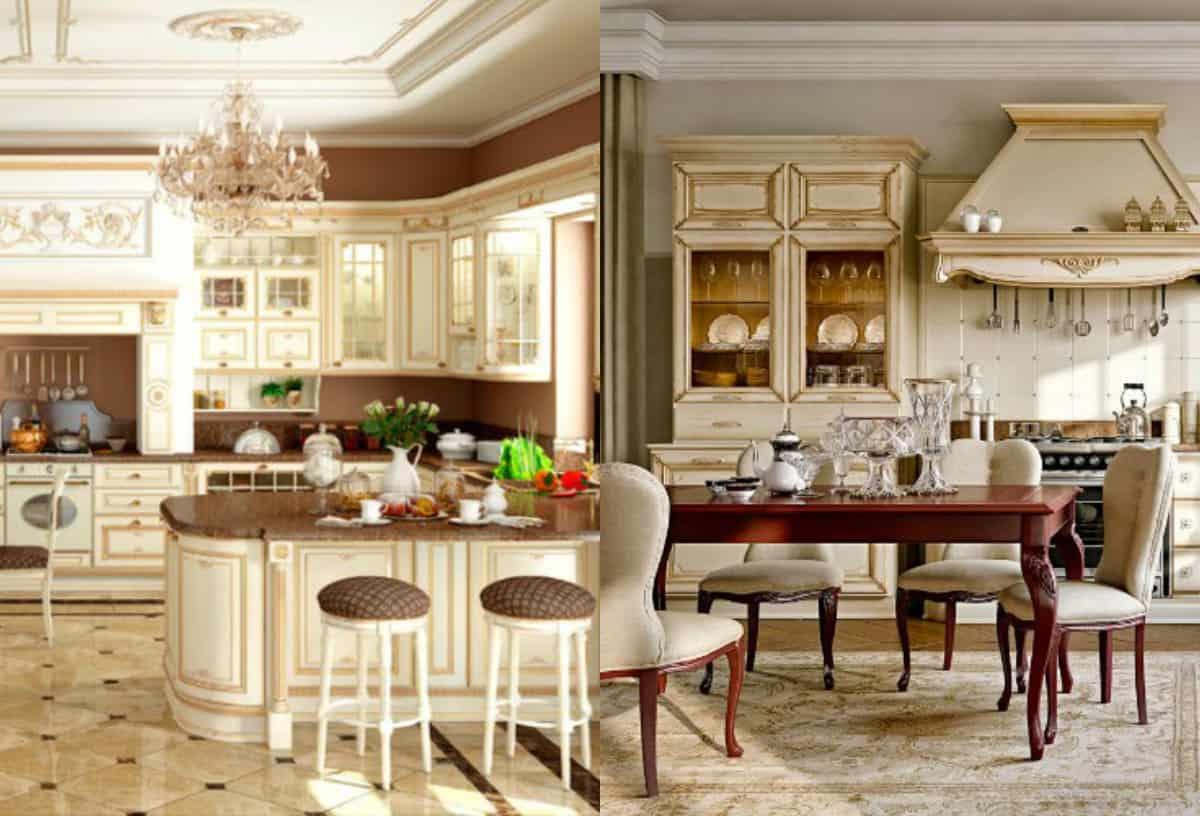 Кухня в классическом стиле : вытяжка
