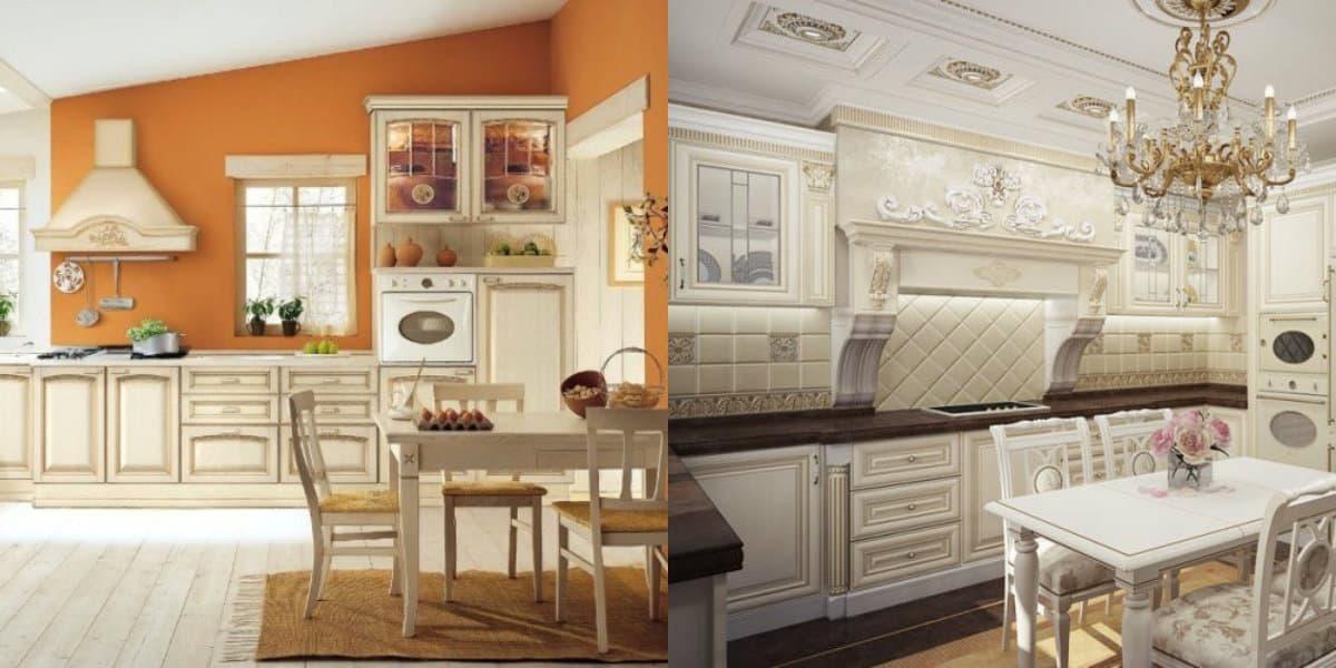 Кухня в классическом стиле : стол и стулья