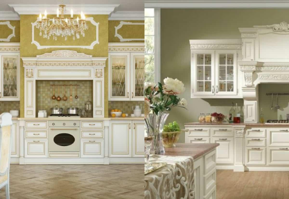 Кухня в классическом стиле : декор