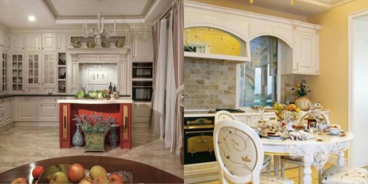 Кухня в классическом стиле : стол