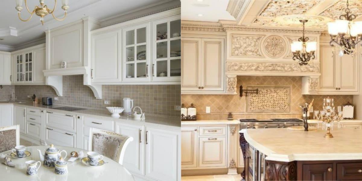 Кухня в классическом стиле : лепнина