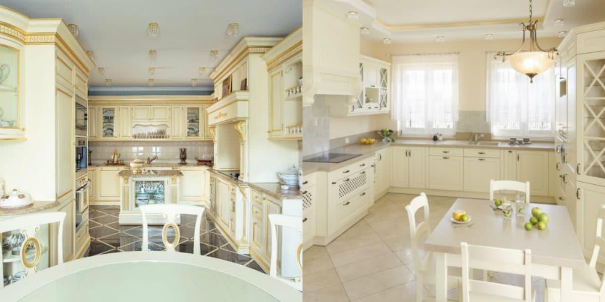Кухня в классическом стиле: планировка