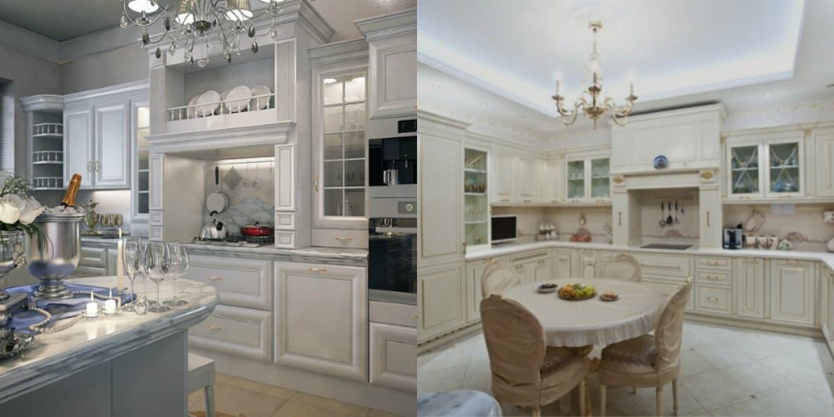 Кухня в классическом стиле : цвет в интерьере