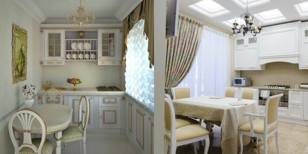 Кухня в классическом стиле : текстиль