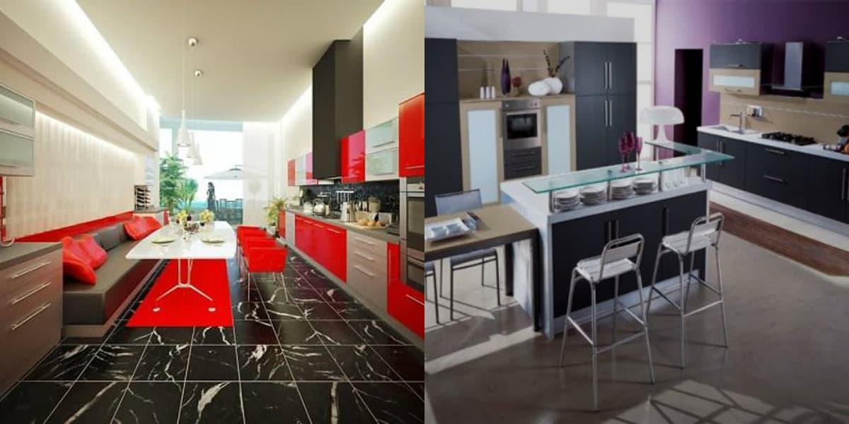 Кухня в современном стиле: хай-тек