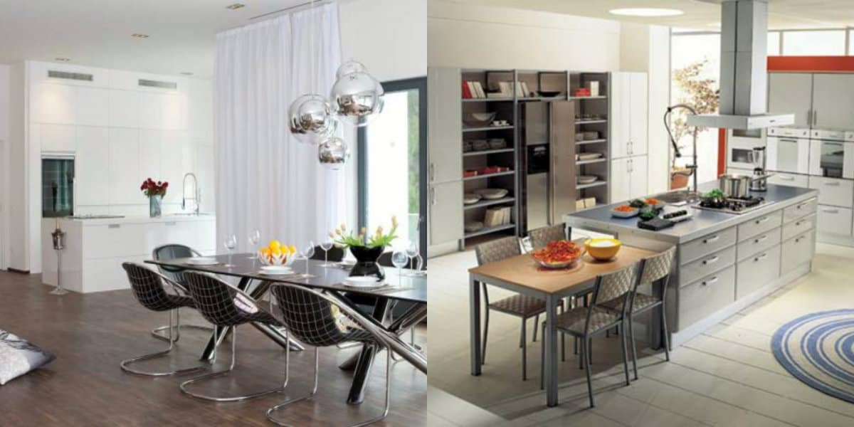 Кухня в современном стиле: планировка