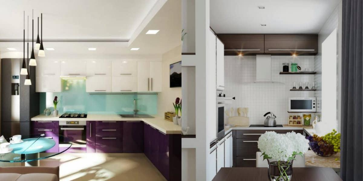 Кухня в современном стиле: светлые цвета
