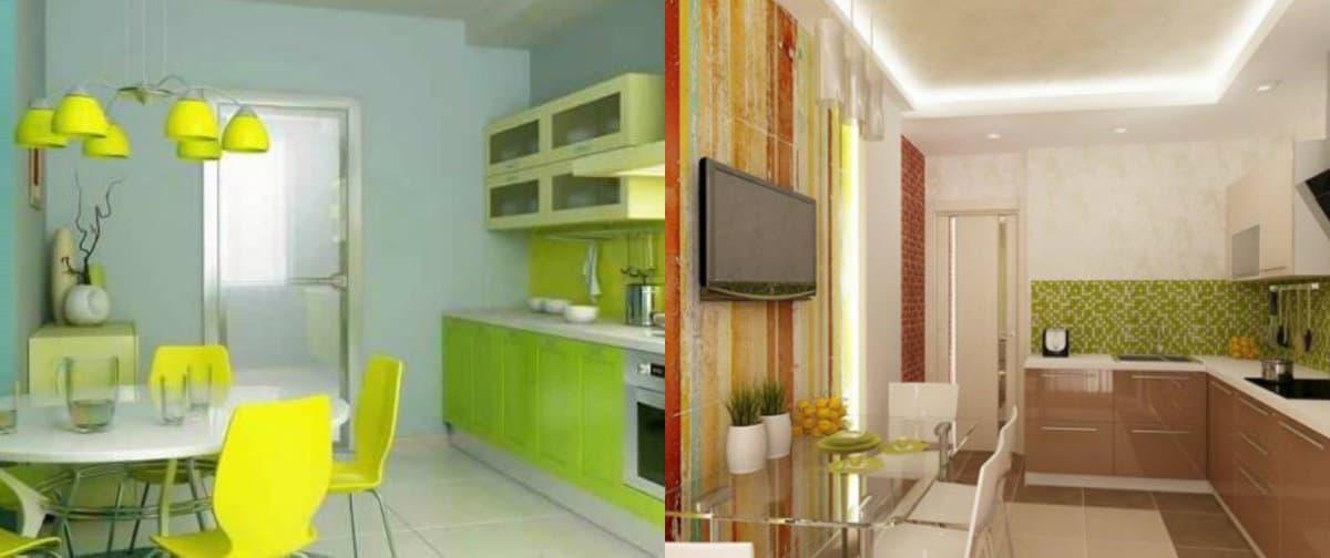 Кухня в современном стиле: телевизор в интерьере