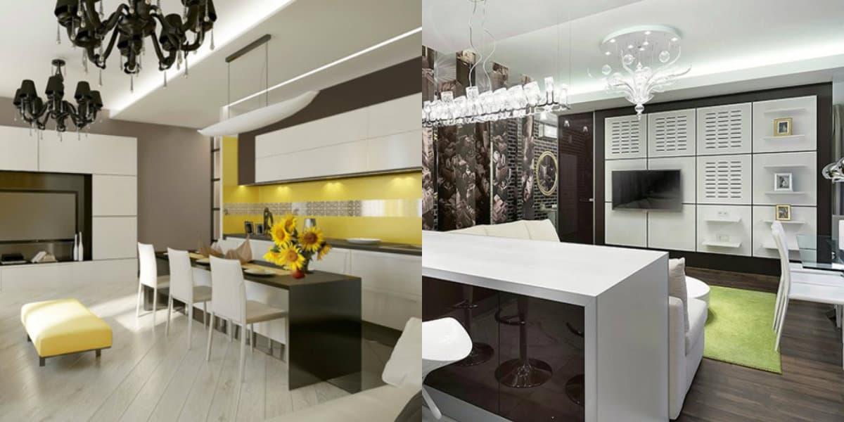 Кухня в современном стиле: организация освещения