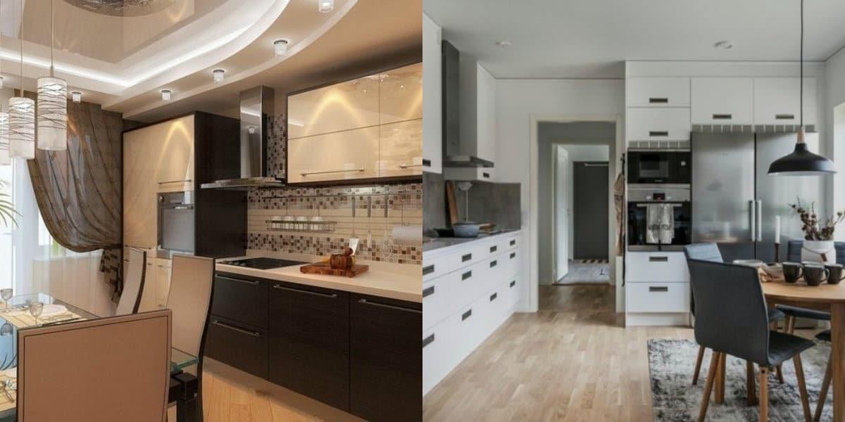 Кухня в современном стиле: мебель
