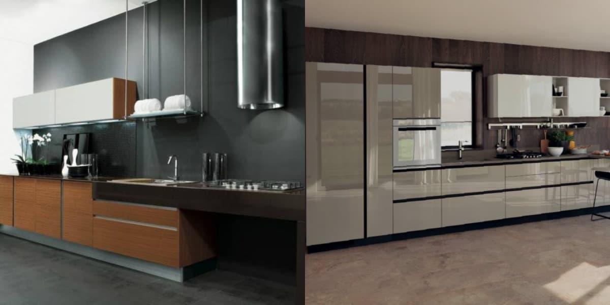 Кухня в стиле Модерн: темный интерьер