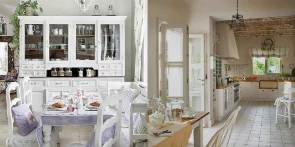Кухня в стиле Прованс: текстиль в интерьере