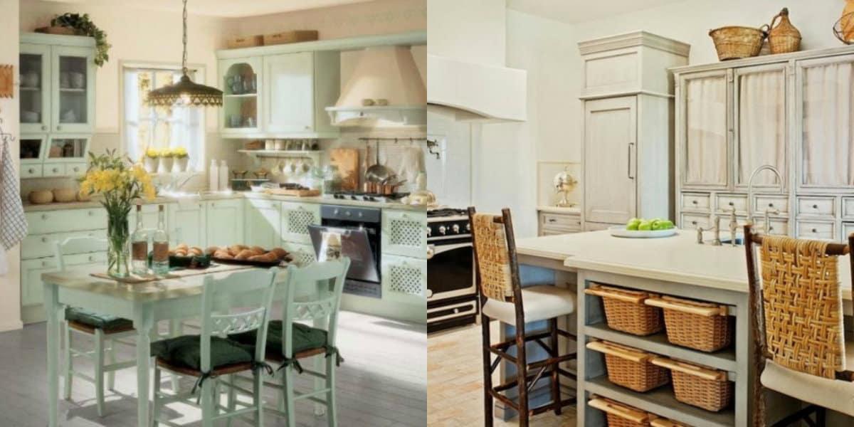 Кухня в стиле Прованс: винтажная мебель