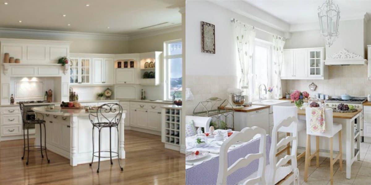 Кухня в стиле Прованс: столы и стулья