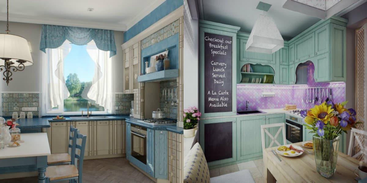Кухня в стиле Прованс: цвет в интерьере