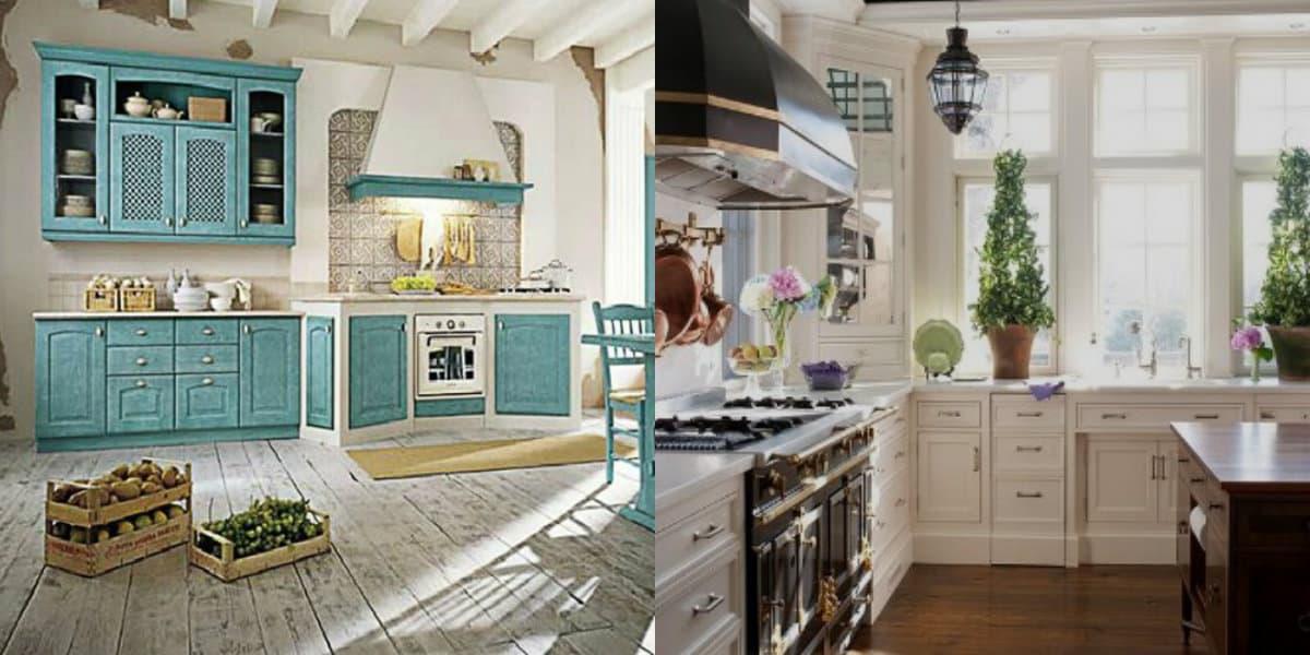 Кухня в стиле Прованс: комнатные растения в интерьере