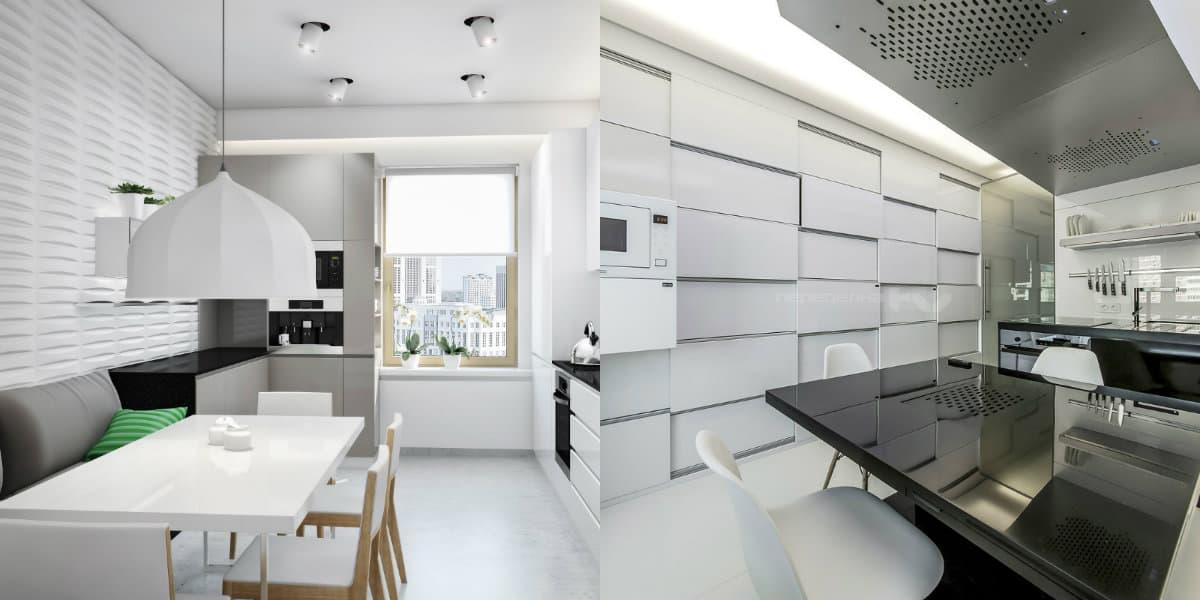 Кухня в стиле минимализм: скрытые фасады