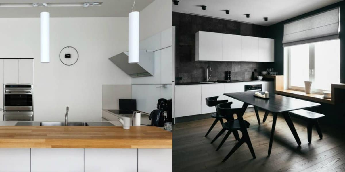 Кухня в стиле минимализм: контрастные решения