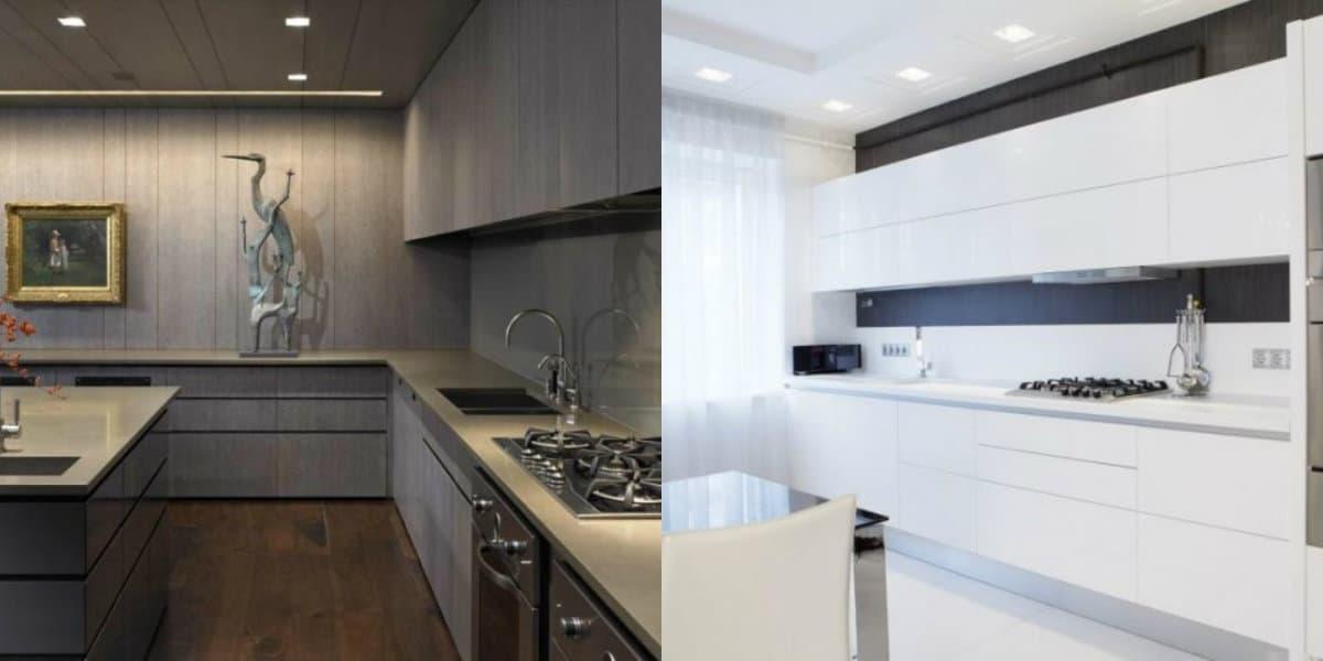 Кухня в стиле минимализм: незаметные фасады