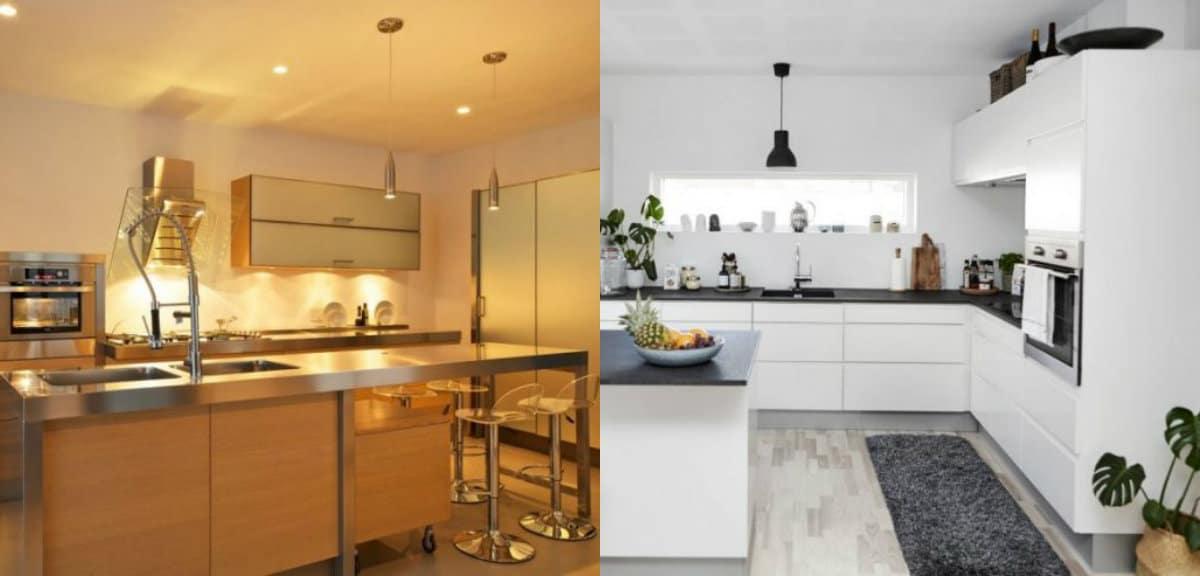 Кухня в стиле минимализм: освещение