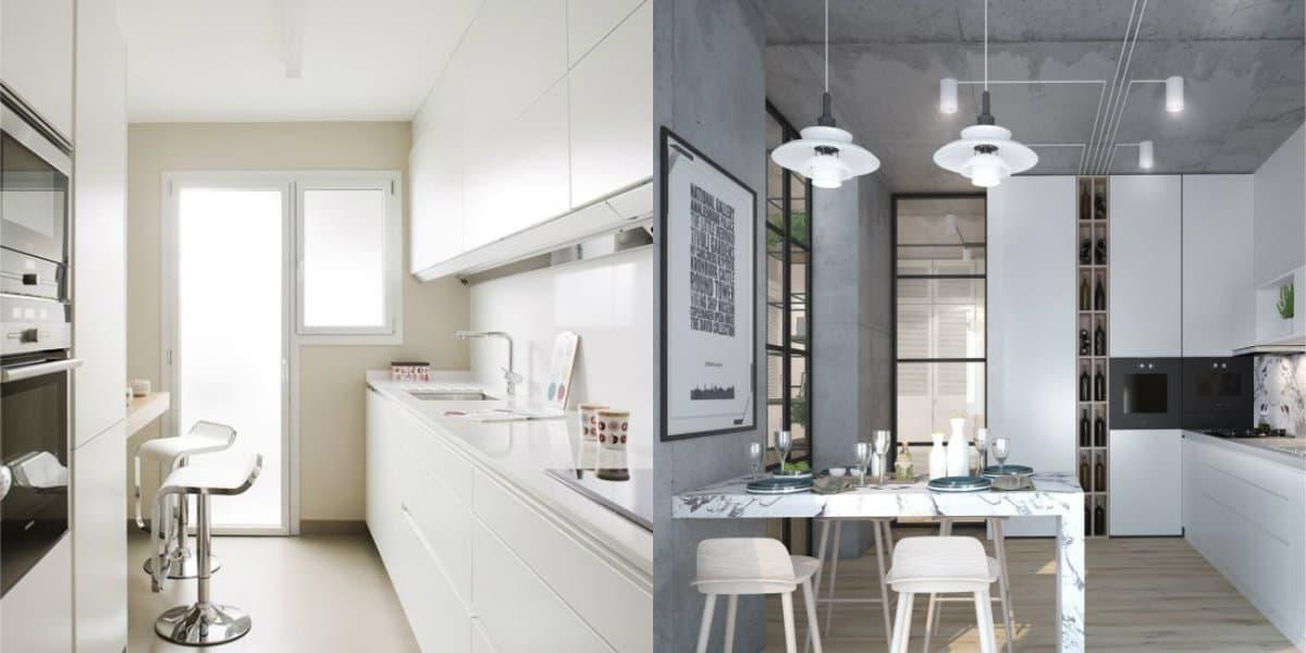 Кухня в стиле Хай тек: белые интерьеры