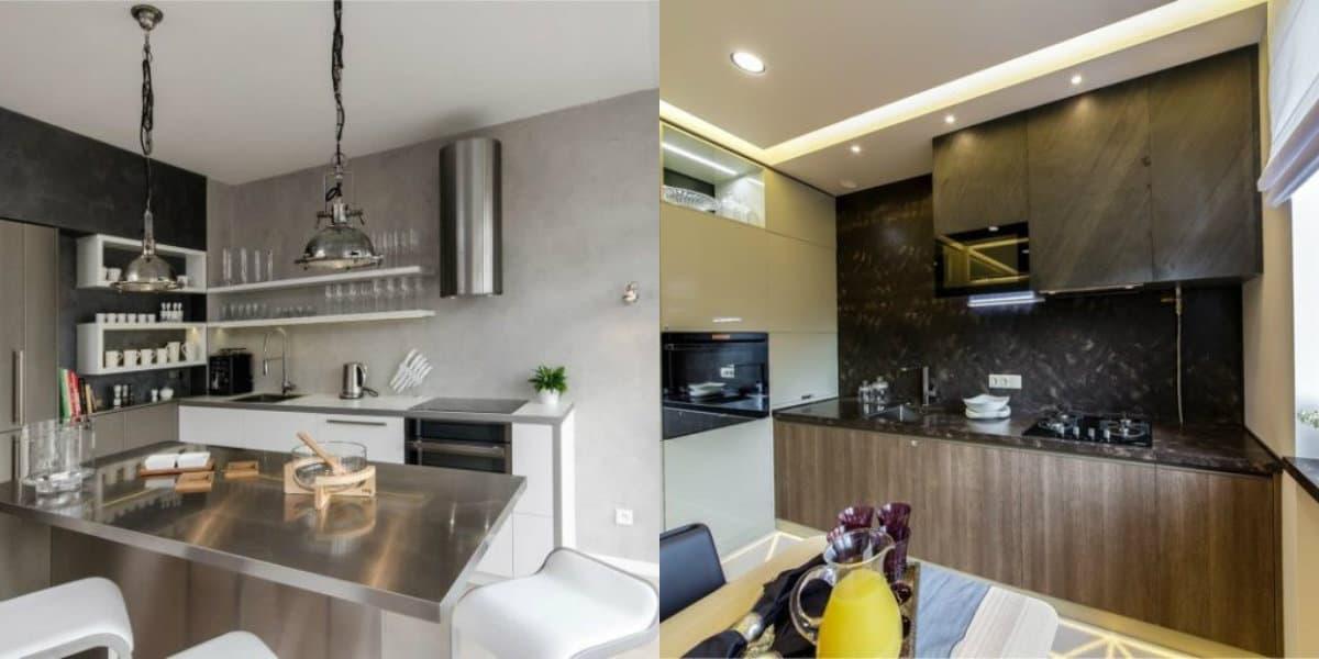 Кухня в стиле Хай тек: оформление рабочей зоны