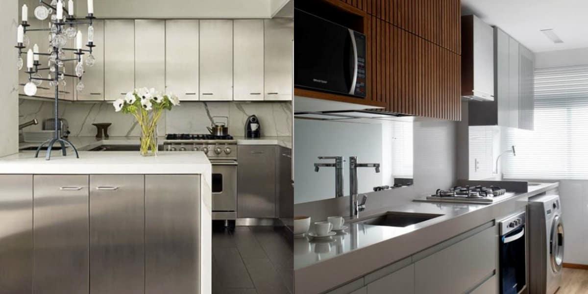 Кухня в стиле Хай тек: зеркальные поверхности
