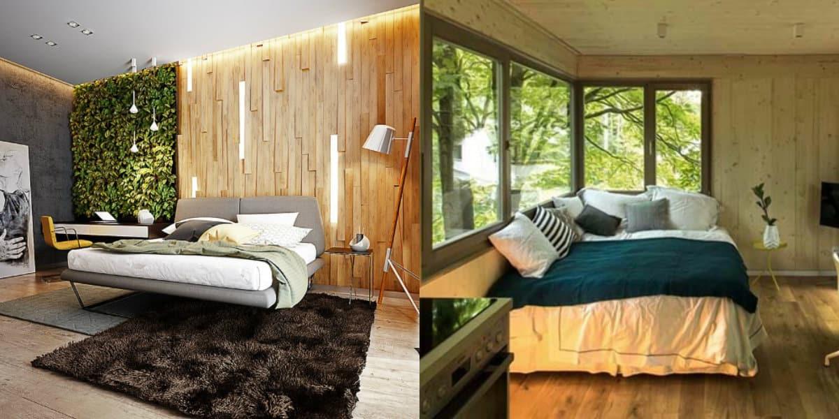 спальня в современном стиле: эко-стиль