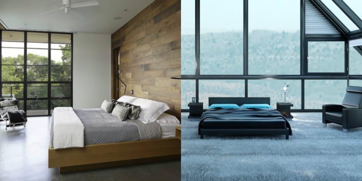 спальня в современном стиле: лофт