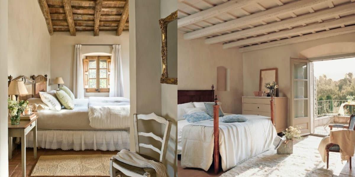 Спальня в стиле Прованс : оформление потолка