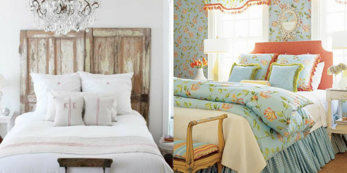 Спальня в стиле Прованс : крестьянское оформление
