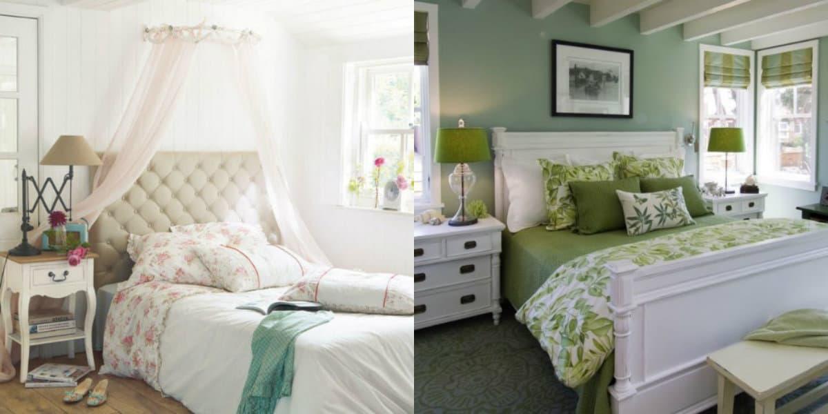 Спальня в стиле Прованс : кровати