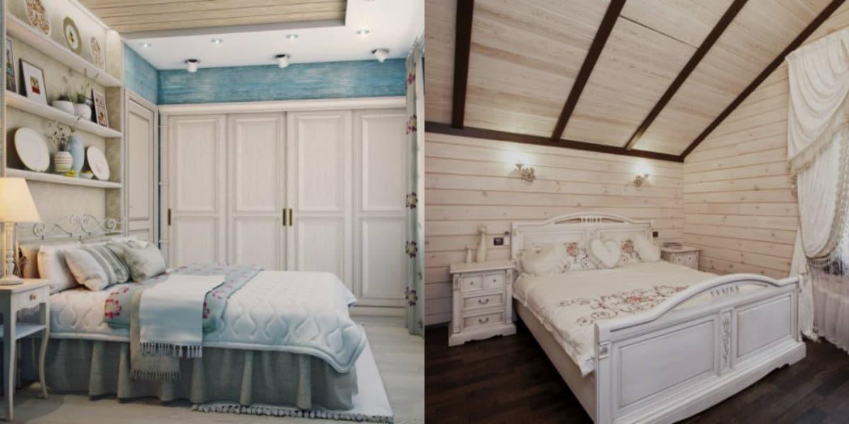 Спальня в стиле Прованс : белая мебель