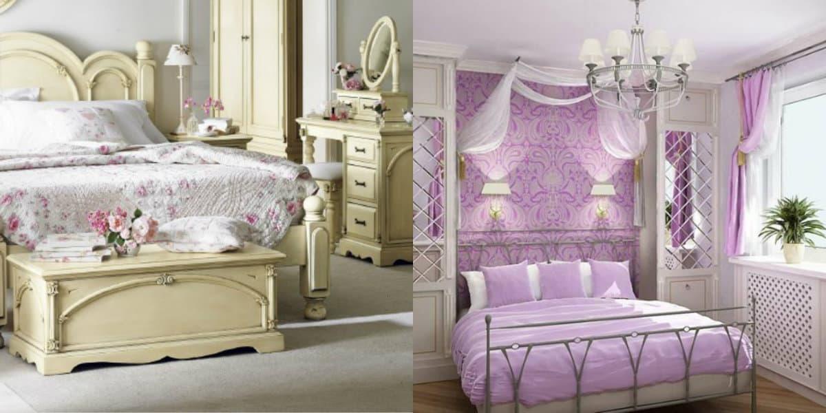Спальня в стиле Прованс : лавандовый декор