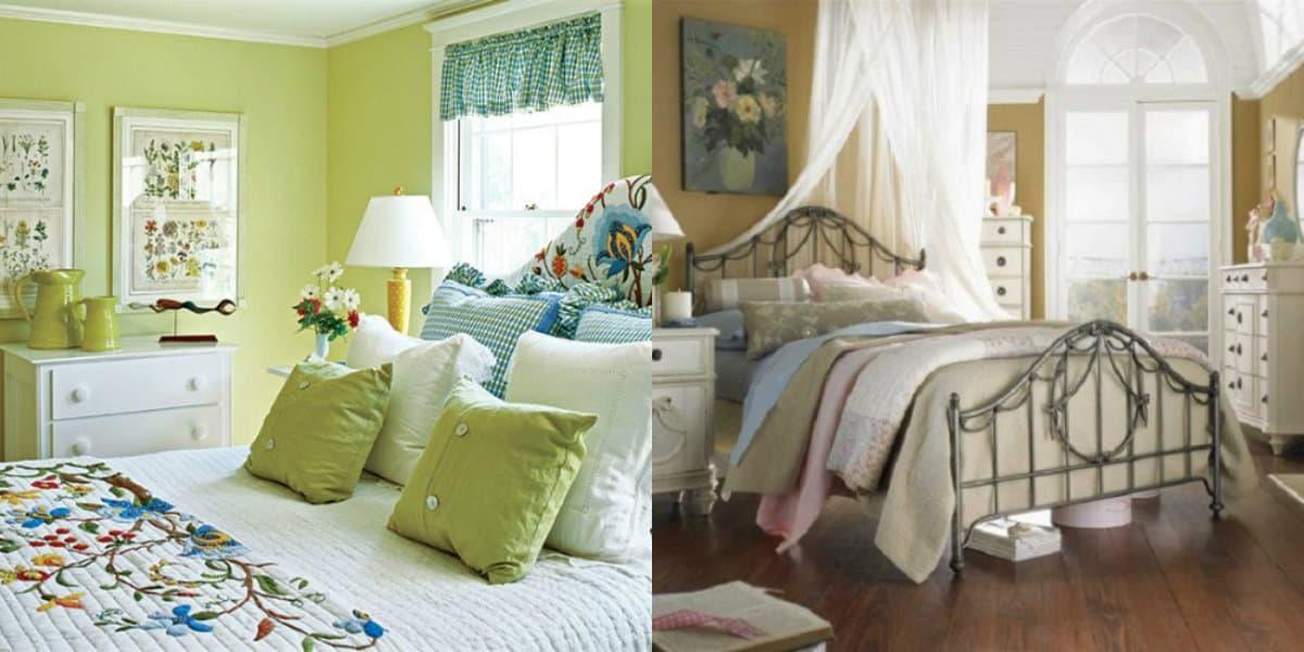 Спальня в стиле Прованс : оливковый дизайн