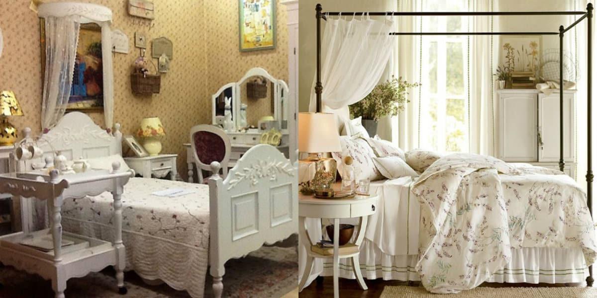 Спальня в стиле Прованс : балдахин