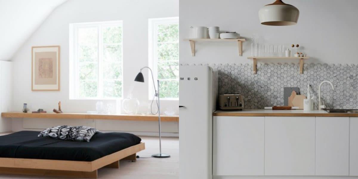 Стиль минимализм в интерьере: черная кровать