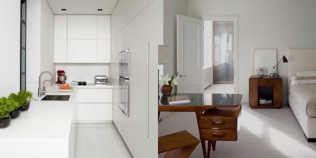 Стиль минимализм в интерьере: белая кухня
