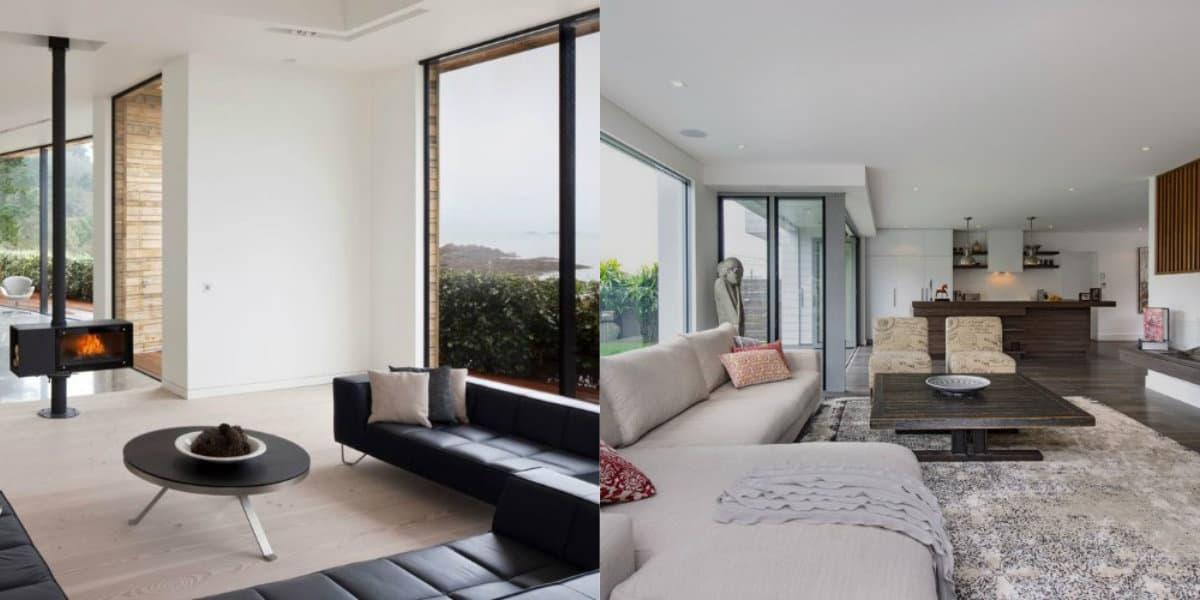 Стиль минимализм в интерьере: дизайн зала