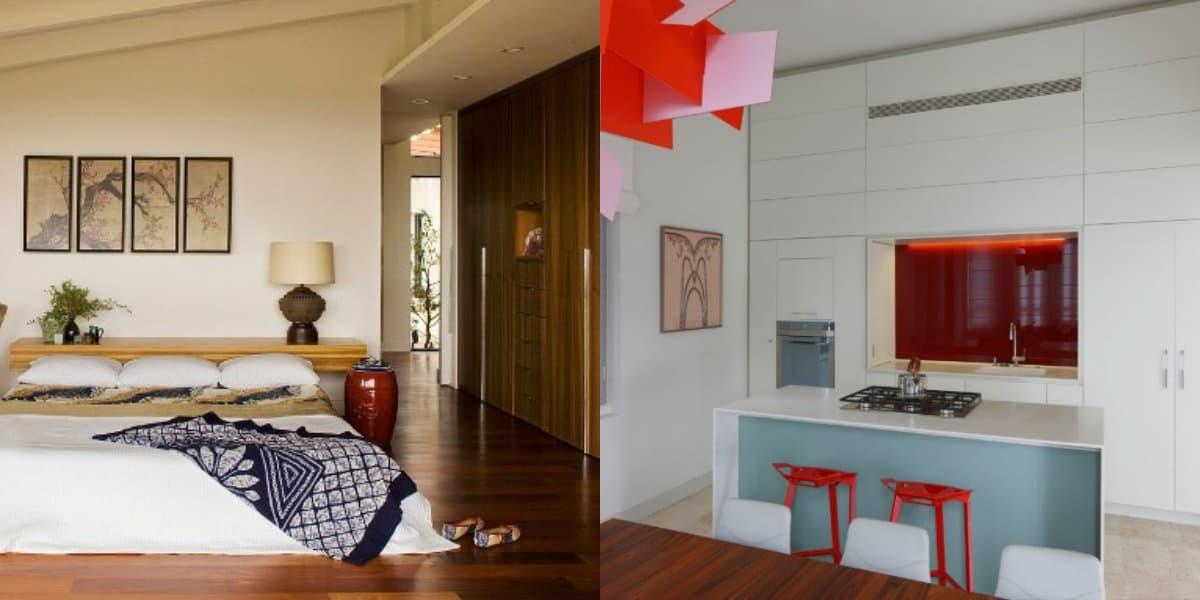 Стиль минимализм в интерьере: яркая кухня