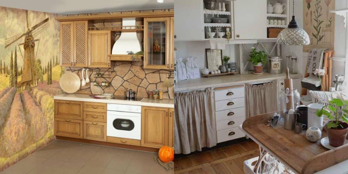 Кухня в деревенском стиле: тексиль и декор
